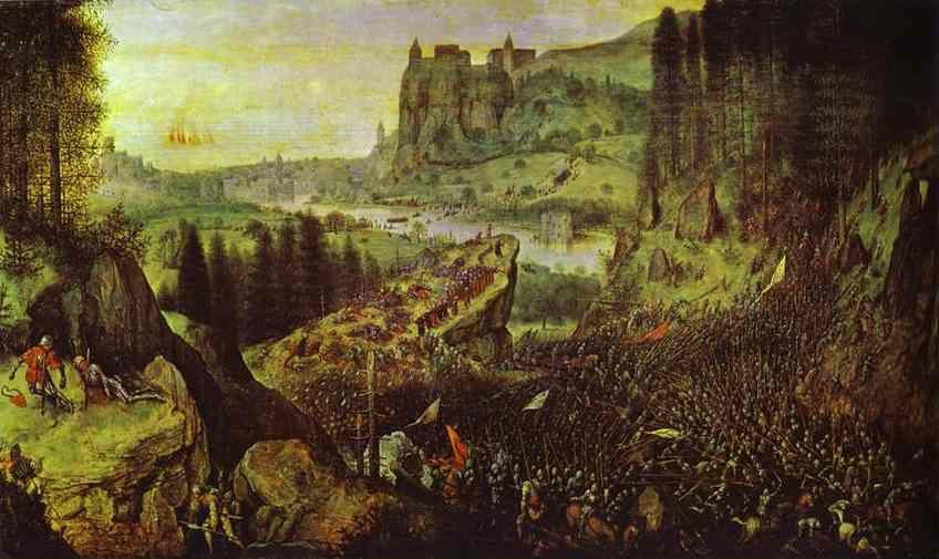 Pieter Bruegel the Elder. The Suicide of Saul.