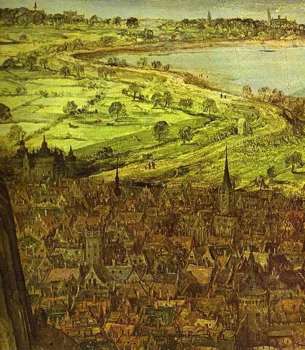 Pieter Bruegel the Elder. The Tower of Babel. Detail.