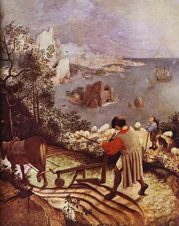 Pieter Bruegel the Elder. Landscape with the Fall of Icarus. Detail.