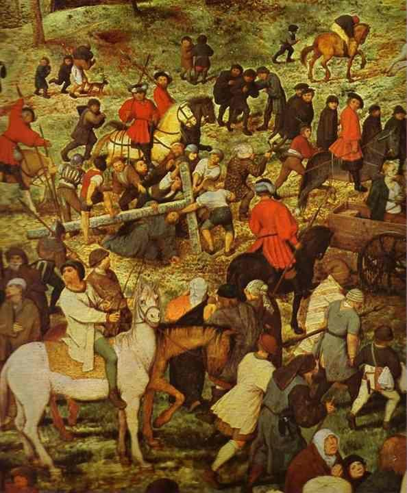 Pieter Bruegel the Elder. The Procession to Calvary. Detail.