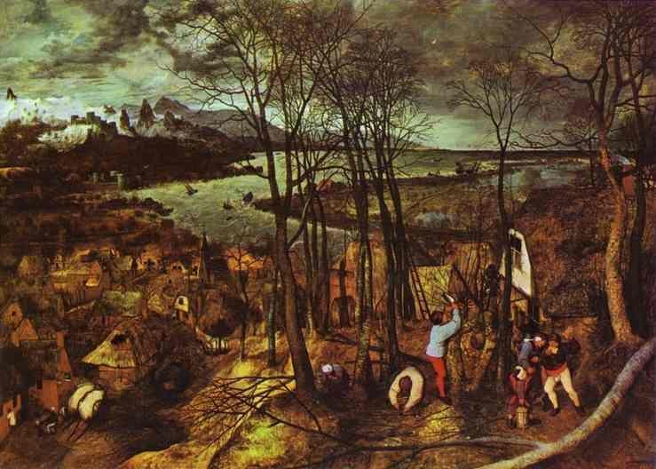 Pieter Bruegel the Elder. The Gloomy Day (February).