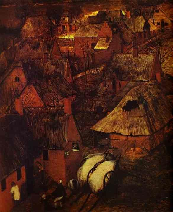 Pieter Bruegel the Elder. The Gloomy Day (February). Detail.