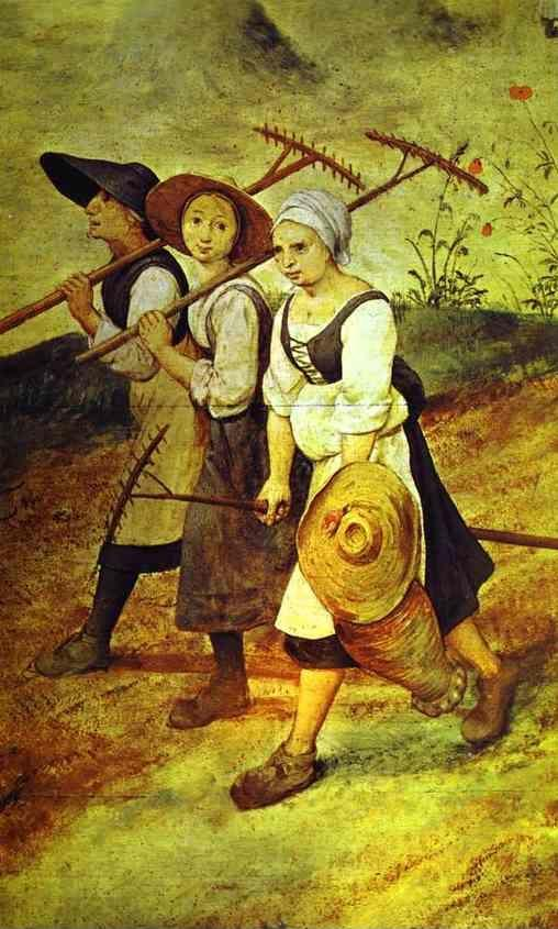 Pieter Bruegel the Elder. Haymaking (July). Detail.