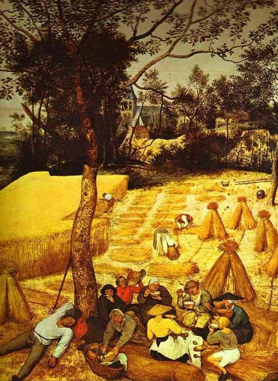 Pieter Bruegel the Elder. The Corn Harvest (August). Detail.