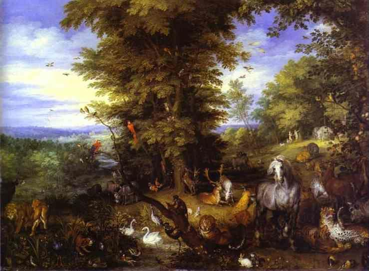 Jan Brueghel the Elder. Adam and Eve in the Garden of Eden.