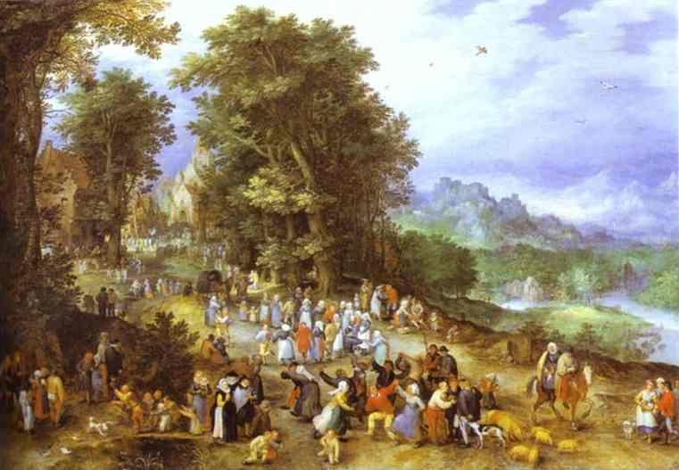 Jan Brueghel the Elder. A Flemish Fair.