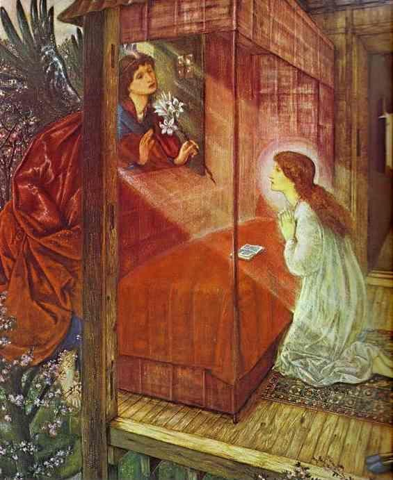 Sir Edward Burne-Jones. The Annunciation. The Flower of God.