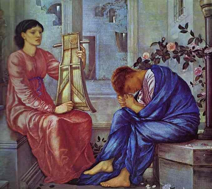 Sir Edward Burne-Jones. The Lament.