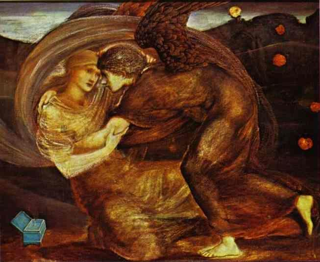 Sir Edward Burne-Jones. Cupid Delivering Psyche.