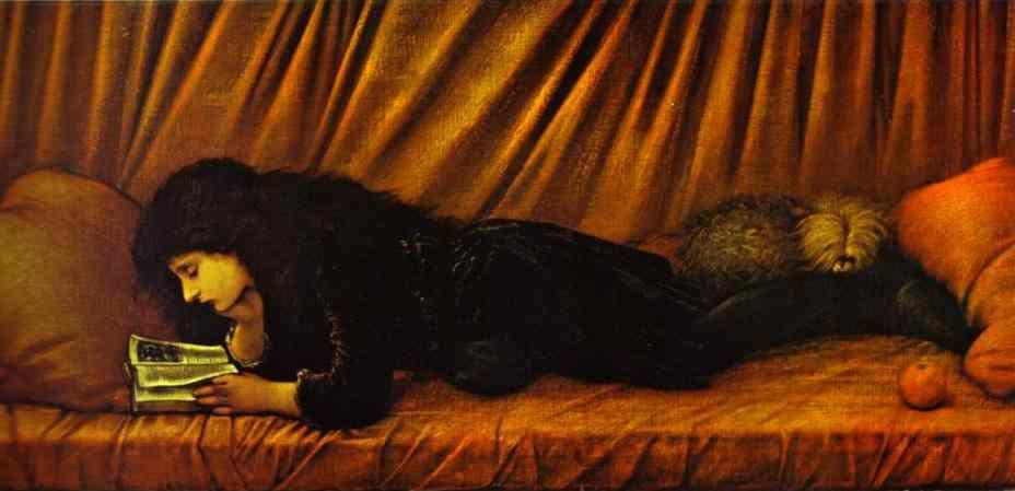 Sir Edward Burne-Jones. Portrait of Katie Lewis.