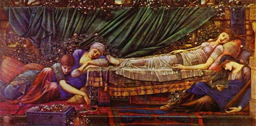 Sir Edward Burne-Jones. 'The Briar Rose' series, IV: the Sleaping Beauty.