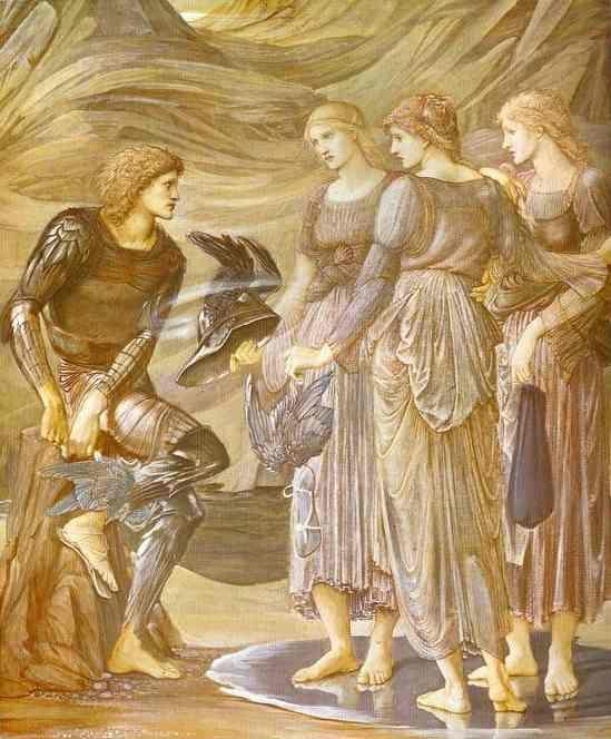 Sir Edward Burne-Jones. The Arming of Perseus.