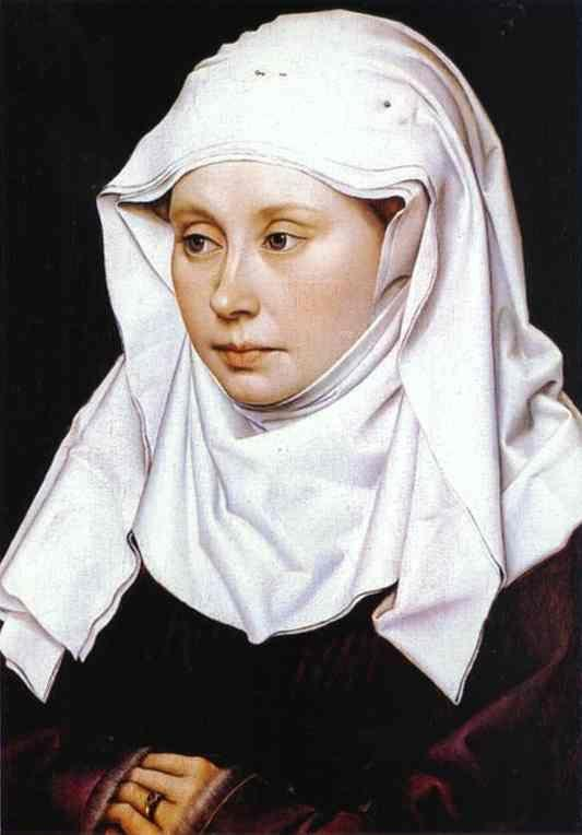 Robert Campin. Portrait of A Woman.