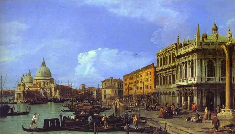 Canaletto. The Molo: Looking West.