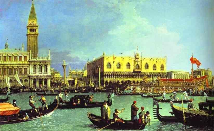 Canaletto. The Bucintoro at the Molo on Ascension Day.