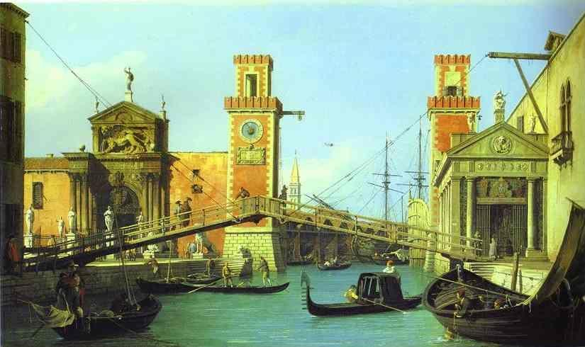 Canaletto. The Arsenal: the Water Entrance.