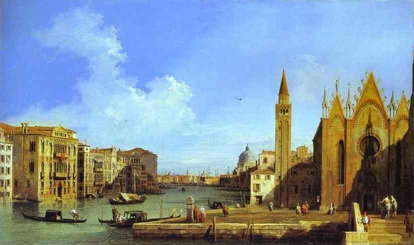Canaletto. Grand Canal: from Santa Maria della Carità to the Bacino di San Marco.
