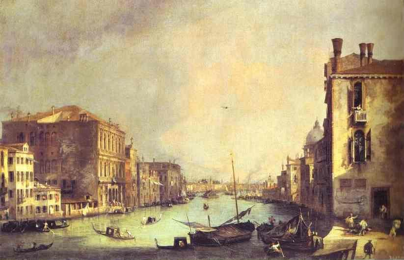 Canaletto. Grand Canal: Looking East, from the Campo San Vio.