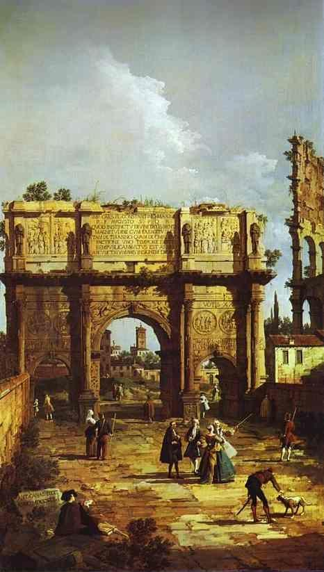 Canaletto. Rome: the Arch of Constantine.