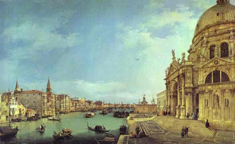 Canaletto. Entrance to the Grand Canal: Looking East.
