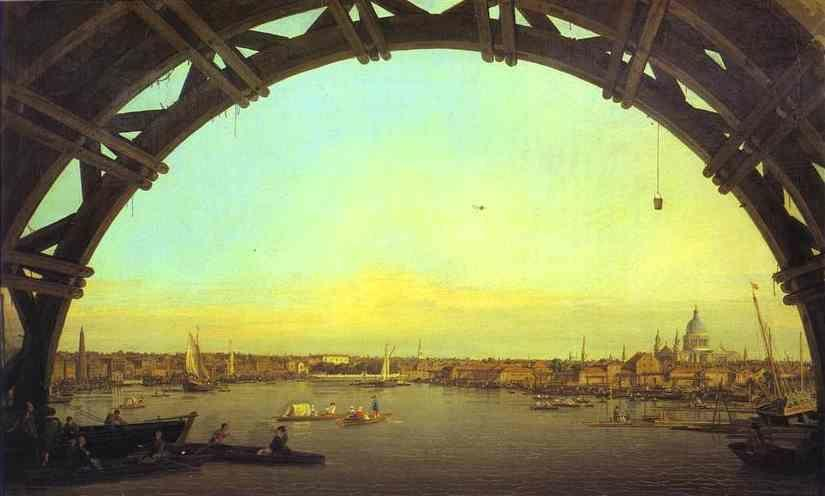 Canaletto. London: Seen through an Arch of Westminster Bridge.