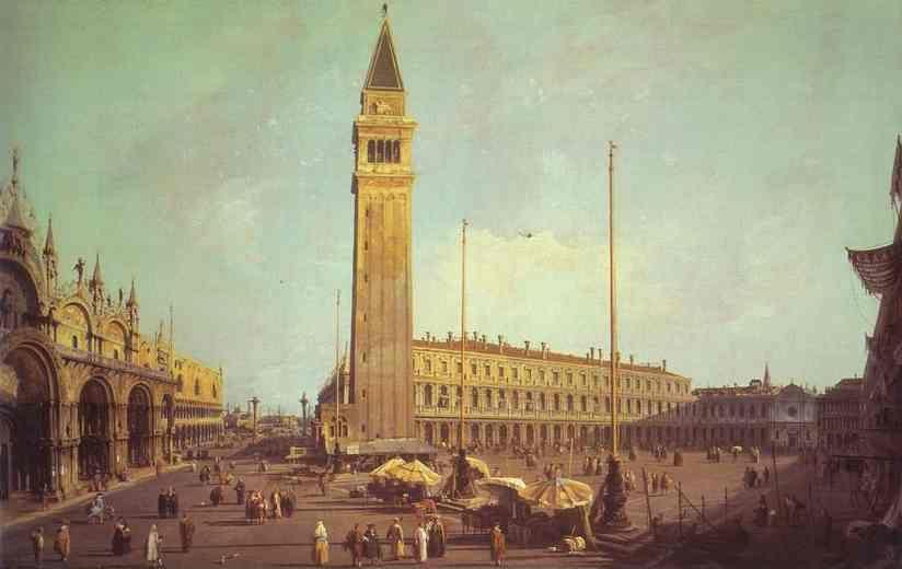 Canaletto. Piazza San Marco: Looking South-West.