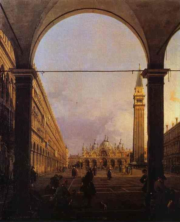 Canaletto. Piazza San Marco: Looking East from the North-West Corner.