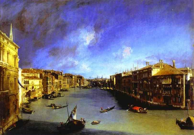 Canaletto. Grand Canal Viewed from Palazzo Balbi.