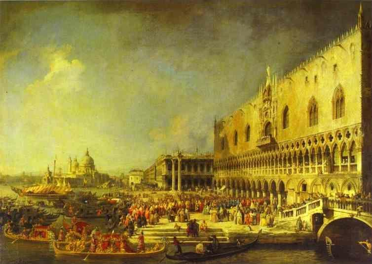 Canaletto. The Reception of the French Ambassador in Venice.
