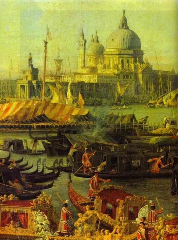 Canaletto. The Reception of the French Ambassador in Venice. Detail.