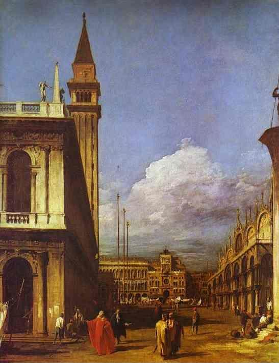 Canaletto. The Piazzetta: Looking North.