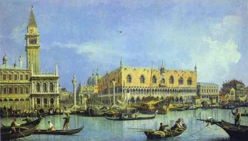 Canaletto. The Molo, Seen from the Basin of San Marco.