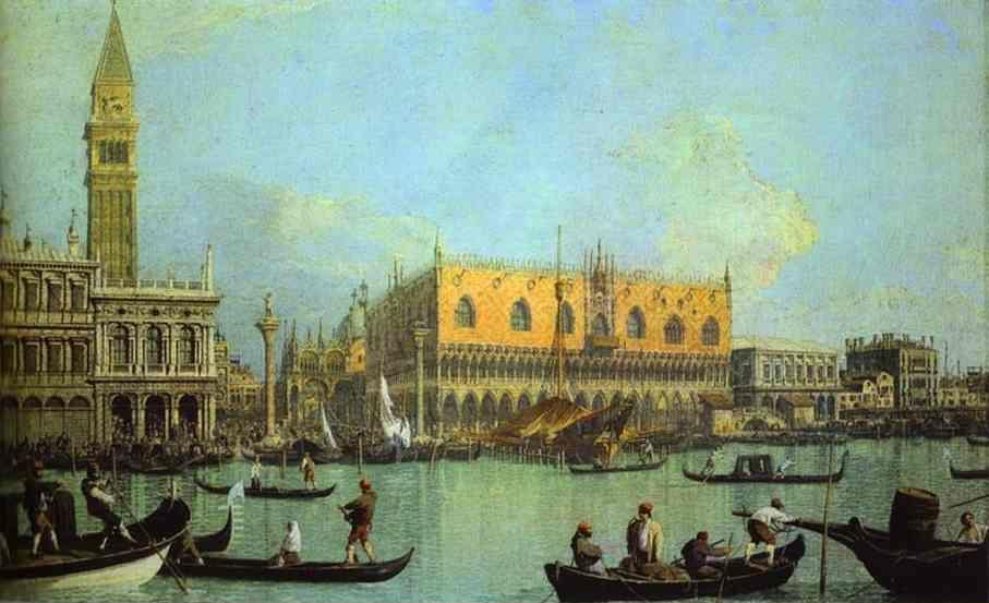 Canaletto. A View of the Ducal Palace in Venice.