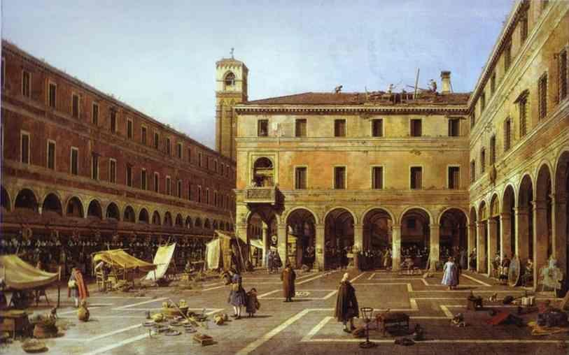 Canaletto. The Campo di Rialto.