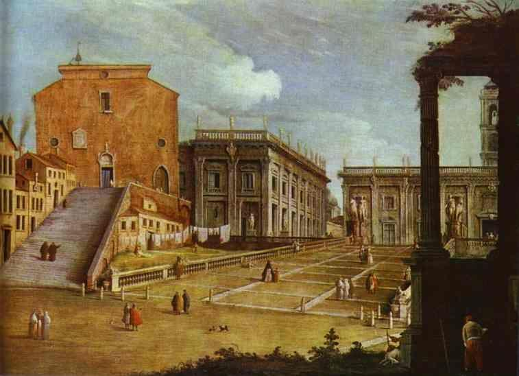 Canaletto. Capitol Square in Rome.
