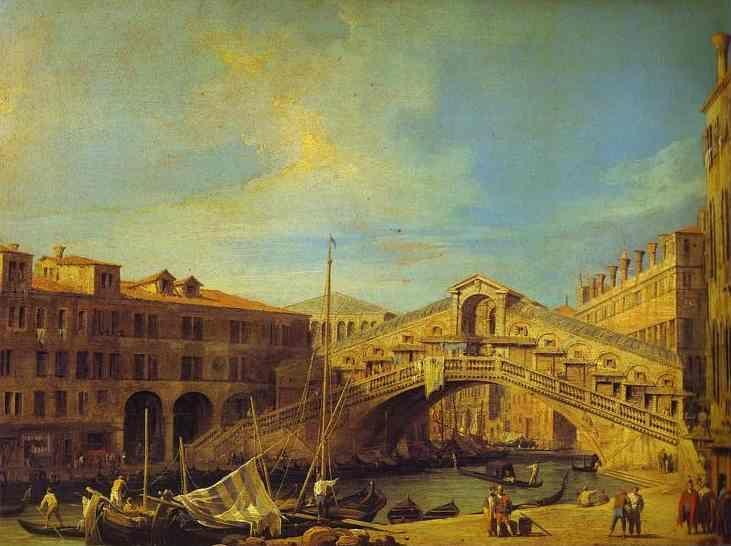 Canaletto. Grand Canal: the Rialto Bridge from the South.