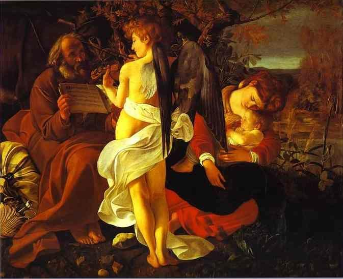 Caravaggio. The Rest on the Flight into Egypt.