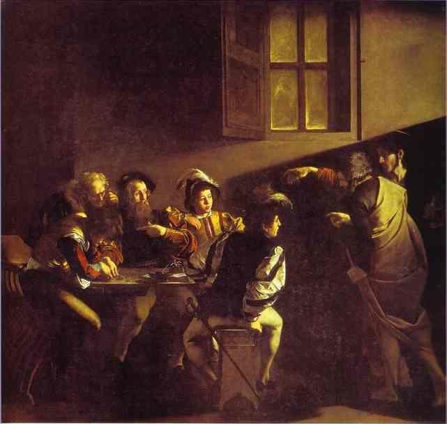 Caravaggio. The Calling of St. Matthew.