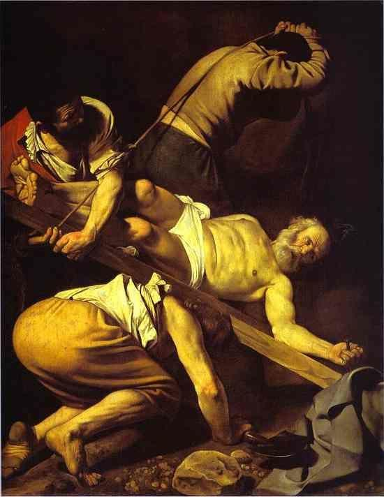 Caravaggio. The Crucifixion of St. Peter.