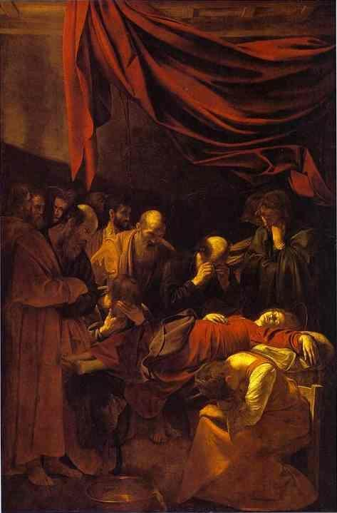 death of the virgin caravaggio It was almost certainly caravaggio's embodiment of the virgin in a low-cut dress that  he finally completed his long overdue altarpiece of the death of the virgin.