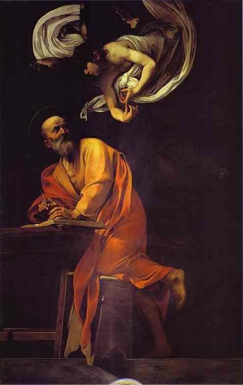 caravaggio st matthew and the angel
