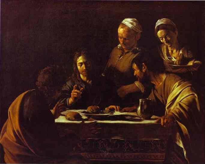 Caravaggio. Supper at Emmaus.