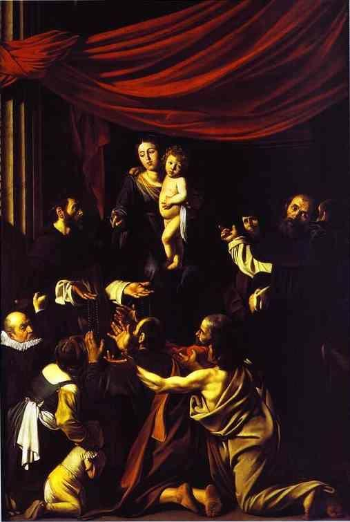 Caravaggio. Madonna of the Rosary.
