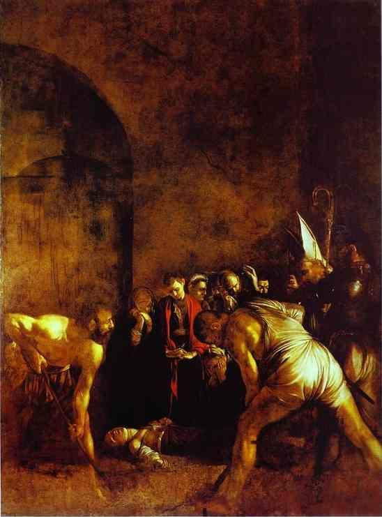 Caravaggio. The Burial of St. Lucy.
