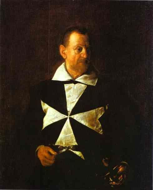 Caravaggio. Portrait of a Knight of Malta.