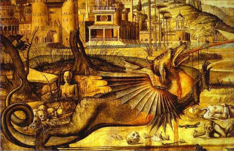 Vittore Carpaccio. St. George and the Dragon. Detail.