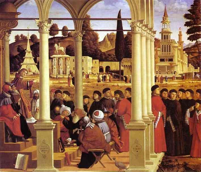 Vittore Carpaccio. Life of St. Stephen: St. Stephen Disputing.