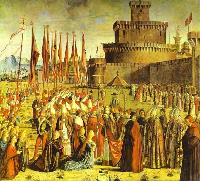 Vittore Carpaccio. Legend of St. Ursula: The Meeting with the Pope.