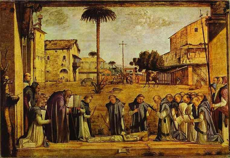 Vittore Carpaccio. Funeral of St. Jerome.