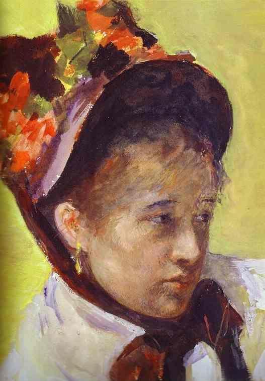 Mary Cassatt Self Portrait Detail